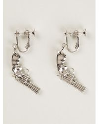 Saint Laurent - Metallic Revolver Earrings - Lyst