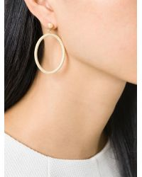 Carolina Bucci Metallic 18Kt Gold 'Gitane' Gypsy Oval Earrings