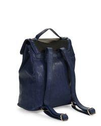 Kensie   Blue Embossed Faux Leather Backpack   Lyst