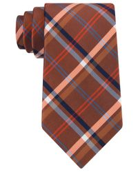 Tommy Hilfiger | Orange Mad Plaid Tie for Men | Lyst