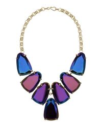 Kendra Scott | Purple Harlow Black Iridescent Statement Necklace for Men | Lyst