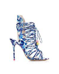 Sophia Webster - Blue Lacey Oceana Beaded Beachball Lace Up Sandal - Lyst