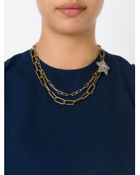 Lanvin | Metallic Star And Moon Detail Necklace | Lyst