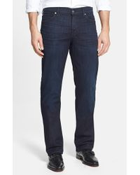 7 For All Mankind | Blue 'Standard - Luxe Performance' Classic Straight Leg Jeans for Men | Lyst