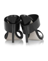 Alexander Wang - Black Masha Glossed-Leather Mules - Lyst