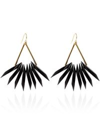 Marni - Black Resin Drop Earrings - Lyst