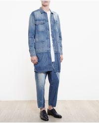 Miharayasuhiro - Blue Long Denim Jacket - Lyst