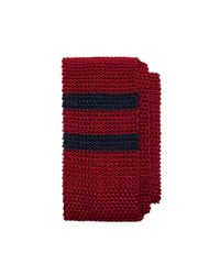 Brooks Brothers - Red Placed Double Stripe Knit Tie for Men - Lyst