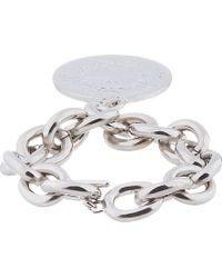 Givenchy - Metallic Silver Medallion Bracelet - Lyst
