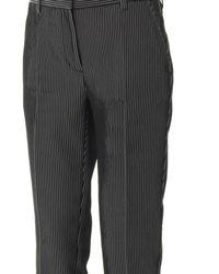 3.1 Phillip Lim - Black Stripe-jacquard Cropped Pencil Pant - Lyst