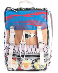 KENZO - Multicolor Multi Logo Backpack - Lyst