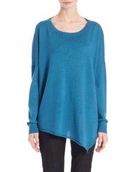 Eileen Fisher - Blue Merino Wool Asymmetrical Sweater - Lyst