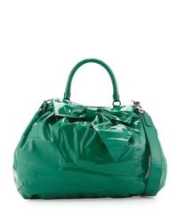 Valentino | Green Patent-leather Bow Tote Bag | Lyst