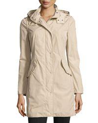 Moncler - Natural Argiela Hooded Smocked Coat - Lyst