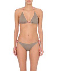 Lazul | Gray Nubia Triangle Bikini Top | Lyst
