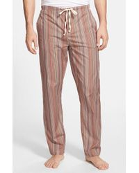 Paul Smith - Brown 'iconic' Stripe Cotton Pajama Pants for Men - Lyst