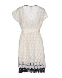 Pianurastudio - White Short Dress - Lyst
