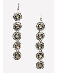 Bebe | Metallic Art Deco Circle Earrings | Lyst