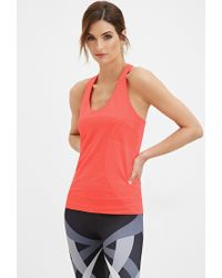 Forever 21 | Red Seamless Athletic Tank | Lyst