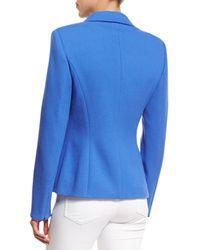 ESCADA - Blue Two-Button Terry Jacket - Lyst