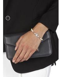 Vivienne Westwood | Metallic Mini Bas Relief Swarovski And Pearl Bracelet | Lyst