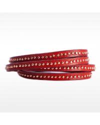 Linea Pelle | Metallic Double Wrap Stud Bracelet | Lyst