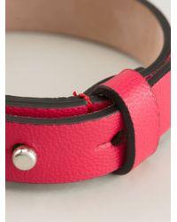 Alexander McQueen - Red Skull Detail Bracelet - Lyst