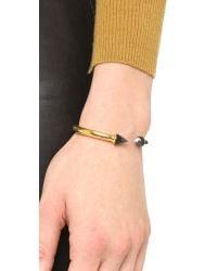 Vita Fede - Metallic Mini Titan Stone Bracelet - Gold/onyx/jasper - Lyst