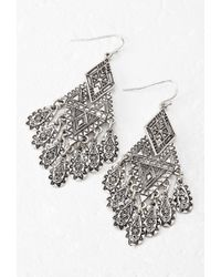 Forever 21 - Metallic Tribal-Inspired Drop Earrings - Lyst