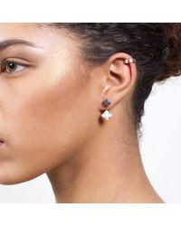 Dutch Basics - Porcelain Earrings Black & White - Lyst