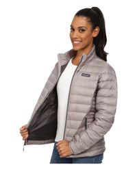 Patagonia   Gray Down Sweater Jacket   Lyst