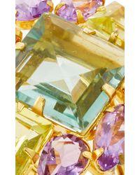 Bounkit | Metallic Amethyst And Lemon Quartz Ring | Lyst