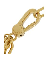 Marc By Marc Jacobs - Metallic Locked Up Gold-Tone Cubic Zirconia Bracelet - Lyst