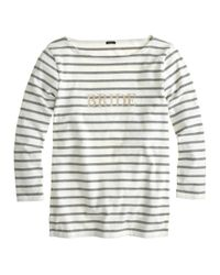 J.Crew - White Bride Sailor Tee - Lyst