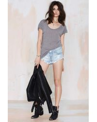 Nasty Gal - Blue Bonita Cutoff Shorts - Wilde - Lyst