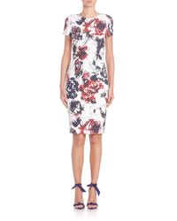 Carolina Herrera - Multicolor Roses & Dots Cloque Dress - Lyst
