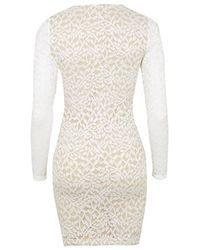 TOPSHOP | White Lace Bodycon Dress By Wyldr | Lyst