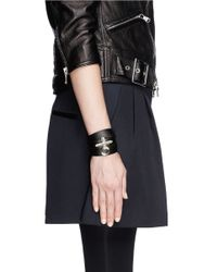 Givenchy | Black Obsedia Triple Wrap Leather Bracelet | Lyst
