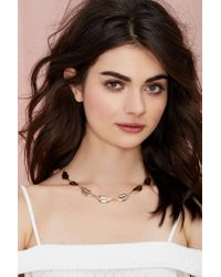 Nasty Gal - Metallic Gettin' Mouthy Metal Necklace - Lyst