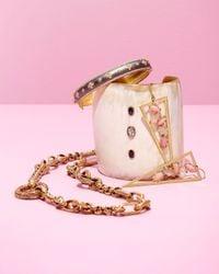 Ashley Pittman - Metallic Mid-size Light Horn 3-stone Cuff Bracelet - Lyst