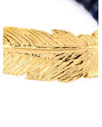Leivan Kash | Blue Beaded Feather Bracelet | Lyst