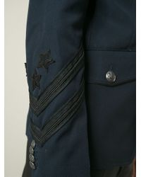Diesel Black Gold - Blue 'Jonis' Military Jacket for Men - Lyst