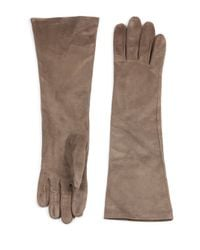 Lafayette 148 New York | Brown Long Suede Gloves | Lyst