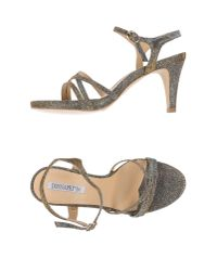 Donna Più - Metallic Sandals - Lyst