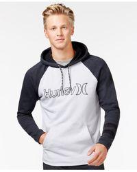 Hurley | Black Carmel Fleece Graphic-print Logo Hoodie for Men | Lyst
