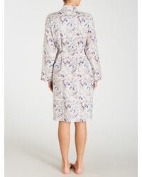 John Lewis - Multicolor Paisley Print Short Robe - Lyst