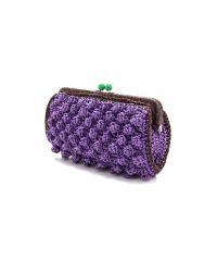 M Missoni - Purple Solid Rafia Clutch - Lyst