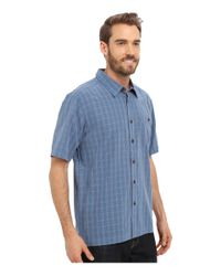 Quiksilver - Blue Banyon Woven Top for Men - Lyst