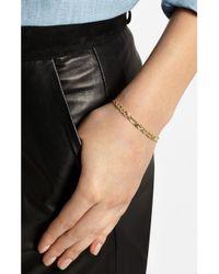 Natasha Zinko | Metallic Love You Baby 18-Karat Gold, Diamond And Emerald Bracelet | Lyst
