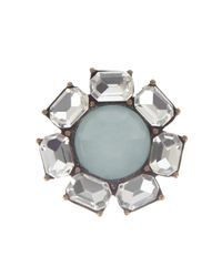 Coast - Gray Mini Fleur Earrings - Lyst